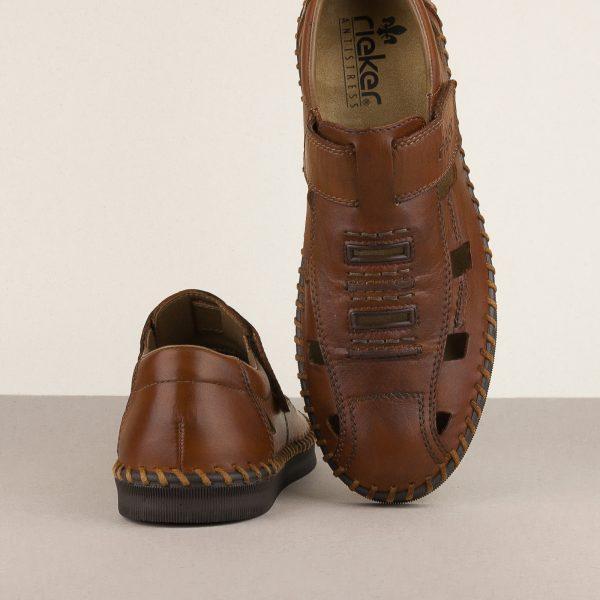 Чоловічі сандалі Rieker B2983-24 brown #6
