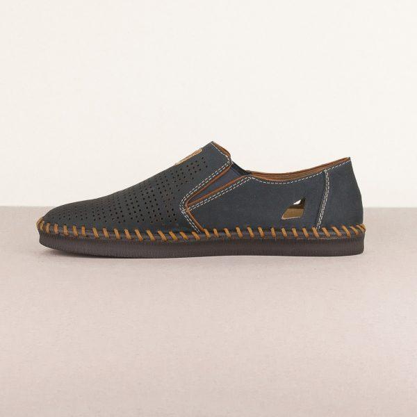 Чоловічі туфлі Rieker B2985-14 Blue #4