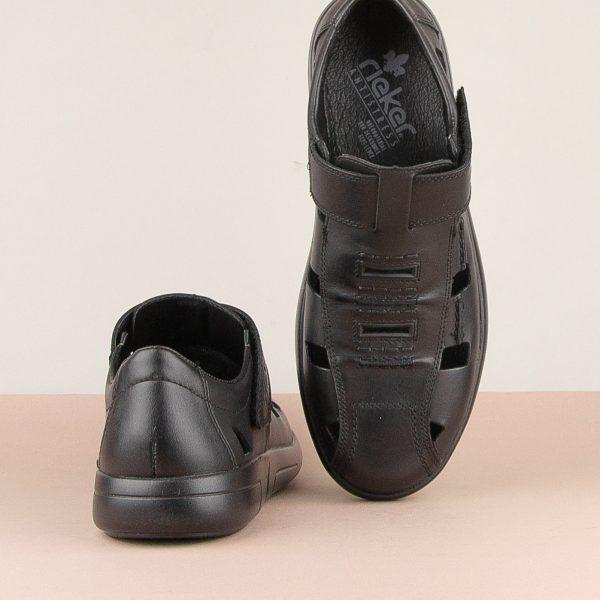 Чоловічі сандалі Rieker B2783-00 Black #6