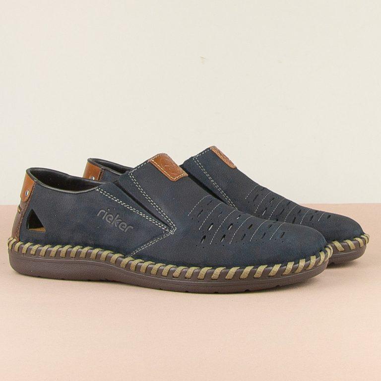 Чоловічі туфлі Rieker B2457-14 blue #1