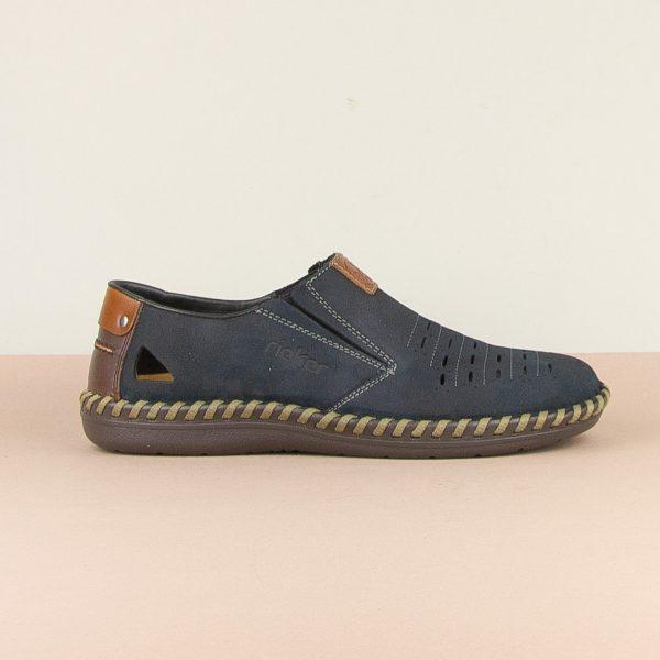 Чоловічі туфлі Rieker B2457-14 blue #4