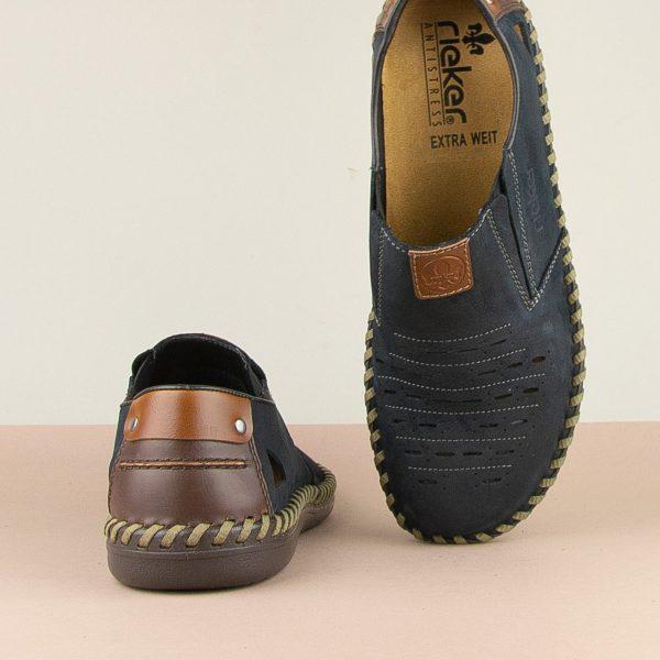 Чоловічі туфлі Rieker B2457-14 blue #6