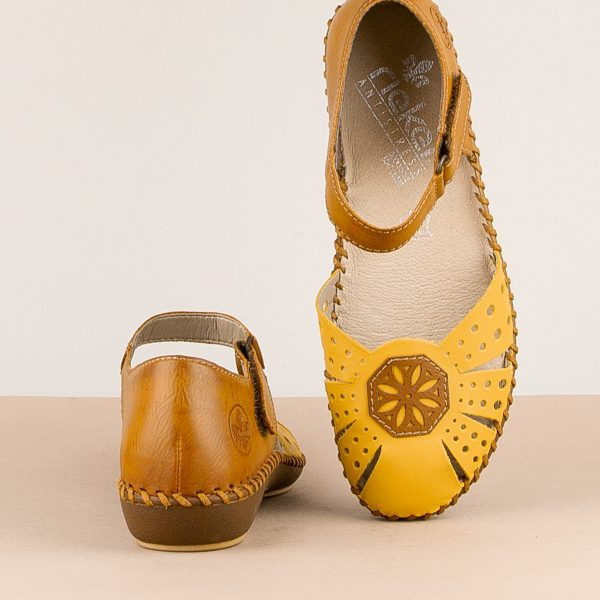 Сандалі  Rieker M1666-69 Yellow combination #6